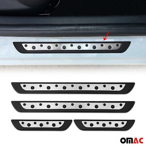 Door Sill Cover Scuff Plate S Steel On Plastic 4 Pcs For Isuzu Ascender