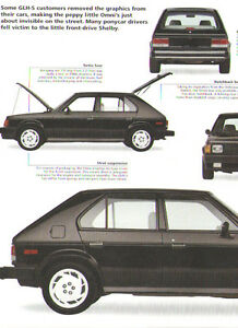 1986 Dodge Omni Shelby Glh S Article Must See Goes Like Hell Shelby