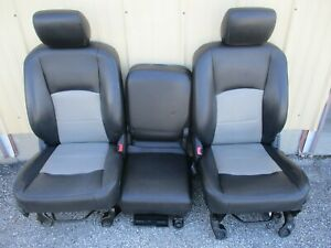 Dodge Ram Crew Cab Seat Left Right Center Console 09 10 11 12 Seat Cover Added