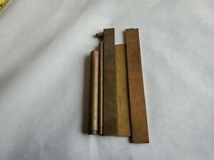 5 Pcs Of Brass Stock Round flat Bar Stock