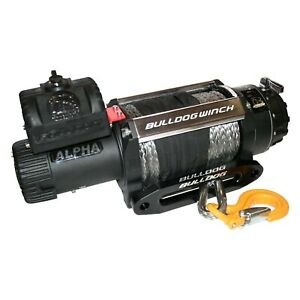 Bulldog Winch 10048 12500 Lb Alpha Series Electric Winch W Synthetic Rope