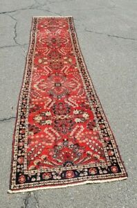 Antique Oriental Hamadan Carpet Runner 14 Ft 1920 40 S We Ship Great Condition