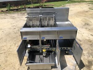 Pitco Solstice Double Fryer Model Sg14r s Filtration Natural Gas Xtra Clean