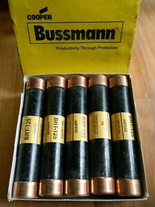 New Box Lot Of 10 Cooper Bussmann Fuse Brt 125 Bussman Trolly Tap Limiters