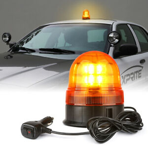 Xprite Yellow Led Strobe Light Rooftop 360 Rotate Flash Beacon Warning Amber
