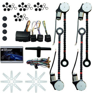 Universal Electric 4door Power Window Roll Up Conversion 5 Switches Kit Driver