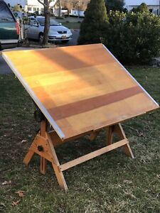Hamilton Style Drafting Table Vintage 48 w X 38 h Tabletop