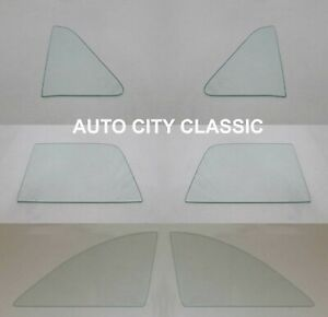 1951 Ford Side Glass Victoria Coupe Window Set Clear