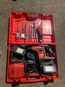 Hilti Te 6a36 Hammer Drill W 8 Bits 2 Batteries And Charger