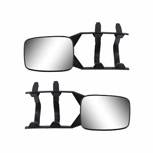 2x Universal Clip On Towing Mirror For Trailer Safe Hauling Adjustable Extension