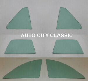1949 1950 1951 Ford Side Glass Club Coupe Vent Door Quarter Flipper Green