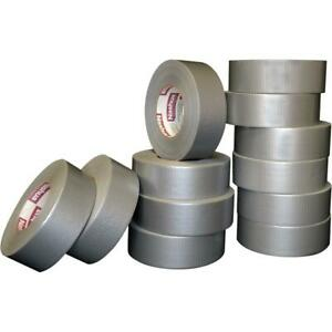 Duct Tape 1 89 In X 60 Yd 394 Sealing Patching Seaming 9 mil Thick 12 pack