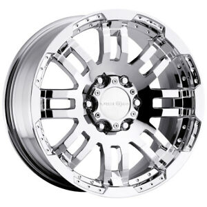 4 vision 375 Warrior 17x8 5 8x6 5 18mm Chrome Wheels Rims 17 Inch