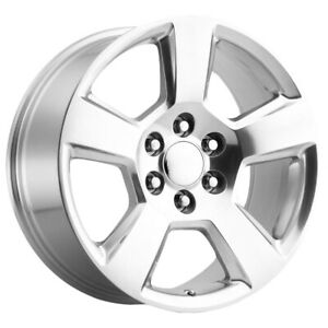4 Replica 183p Chevy Gmc 20x9 6x5 5 27mm Polished Wheels Rims 20 Inch