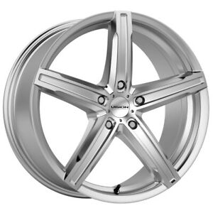 4 vision 469 Boost 17x7 5x115 38mm Silver Wheels Rims 17 Inch