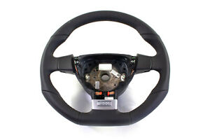 Genuine Vw Mk5 Gti Dsg Black Leather Steering Wheel With Paddle Shifters