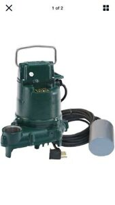 Zoeller Bn53 1 3 Hp Cast Iron Submersible Sump Pump W Tether Float Switch