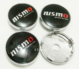 New 4x Jdm 60mm Nismo Wheel Center Caps Hub Rim Center Cap Emblem Badge
