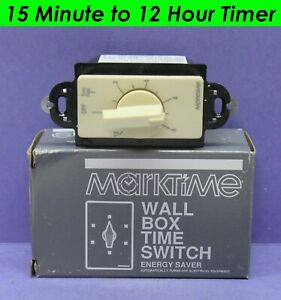 M H Rhodes Marktime 12 hour Light fan Control Timer Switch Ivory 93503 20a