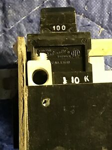 Pushmatic 100 Amp Main 2 Pole Circuit Breaker Bus Bar 12 Spaces used