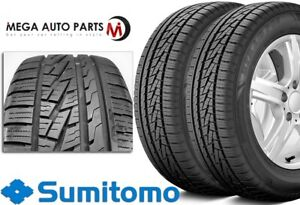 2 New Sumitomo Htr A s P02 255 40 18 99w Bw All Season High Performance Tires