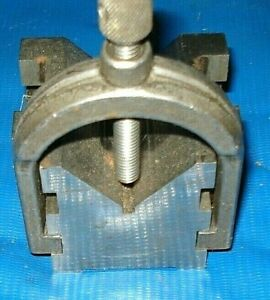 Vintage V Block And Clamp Built Exactly Light Starrett No 568 But No Name On It