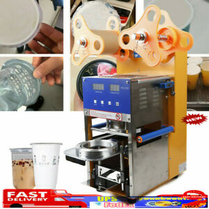 Fully Automatic Cup Sealer Bubble Tea Coffee Cup Sealing Machine W counter 400w