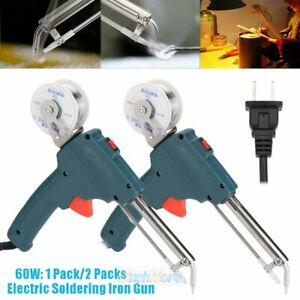 2pcs 60w 110v Auto Soldering Gun Electric Handheld Soldering Iron Rework Station