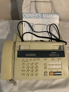 Brother Intellifax 770 Home Or Office Plain Paper Fax Machine Works Toner