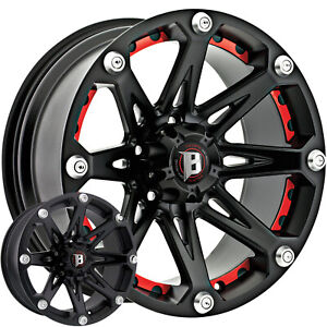 4 20x9 Black Ballistic Jester Wheel 6x5 5 6x139 7 12 Offset 814290655 12fb