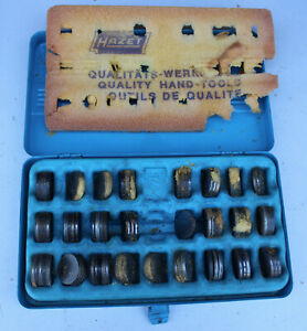 Rare Vintage Hazet 2575 Metal Engine Valve Shims Tool Set W Case Vw Audi