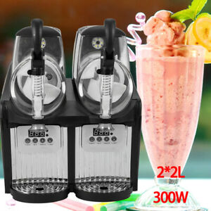 Commercial Slushy Machine Slush Making Machine Frozen Drink Smoothie Maker 300w