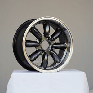 4 Rota Wheel Rb 15x7 4x108 30 R Hyper Black Alfa Small Caps