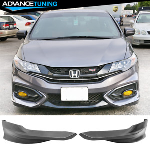 Fits 14 15 Honda Civic Coupe Hfp Style Front Bumper Lip Splitter Pu