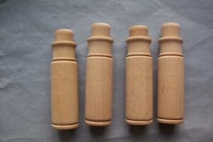 4 Vtg Wooden Wood Sewing Needle Boxes Storage Holders Safety Cases Organizers