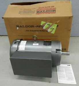 10hp Single Phase Baldor Electric C face Motor 1740 Rpm 215tc Frame 230v Cl3712t