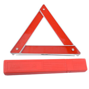 Red Car Triangle Safety Warning Parking Sign Reflective Foldable Road Emergency