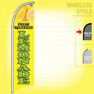 Fresh Squeezed Lemonade Windless Swooper Flag 2 5x11 5 Ft Feather Banner Sign Yb