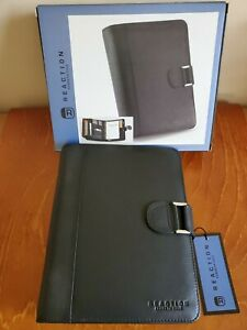 Kenneth Cole Reaction Leather 3 ring Binder Agenda Planner New In Box