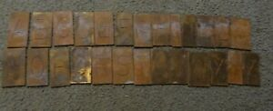 Large Brass Regular Letters Capitals Master Engraving Plates A z Complete Lot 2