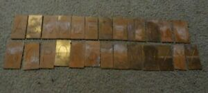 Large Brass Regular Letters Capitals Master Engraving Plates A z Complete Lot 1