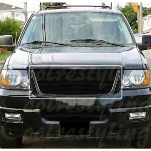 For 2003 04 05 2006 Ford Expedition Black Billet Grille Insert 1pc Upper Cut Out