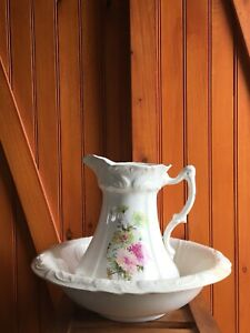 Limoges China Pitcher And Wash Basin