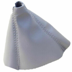Light Gray Real Leather Manual Shift Boot For 99 06 Bmw E46