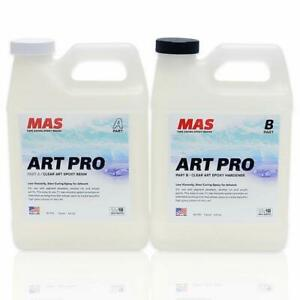 Epoxy Resin Hardener For Art Two Part Professional Grade Crystal Clear 2 Quart