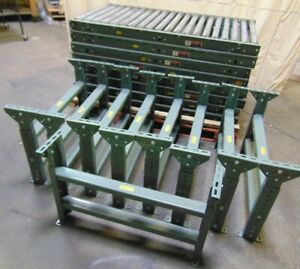 8 Sections Of 5 Hytrol Gravity Roller Conveyor With Legs 34 Wide