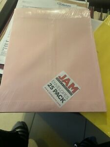 Jam Paper 10 X 13 Open End Catalog Envelopes With Clasp Pink 25