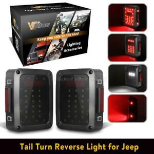For Jeep Wrangler 07 18 Led Tail Light Rear Brake Reverse Turn Signal Lamp X2