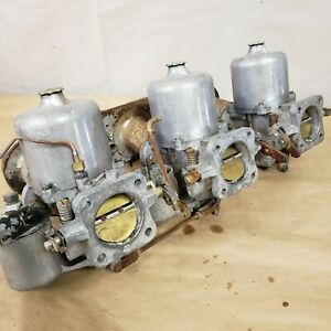 Jaguar Xke E type Triple Su Carburetor Auc946f Auc946r Auc946c And Trumpet