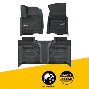 Floor Mats Liner For Gmc Sierra 1500 2019 2020 Crew Cab 1st 2nd Rows All Weather